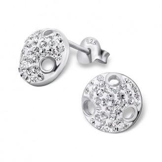 "Stříbrné náušnice s krystaly ""Medúza"". Ag 925/1000"
